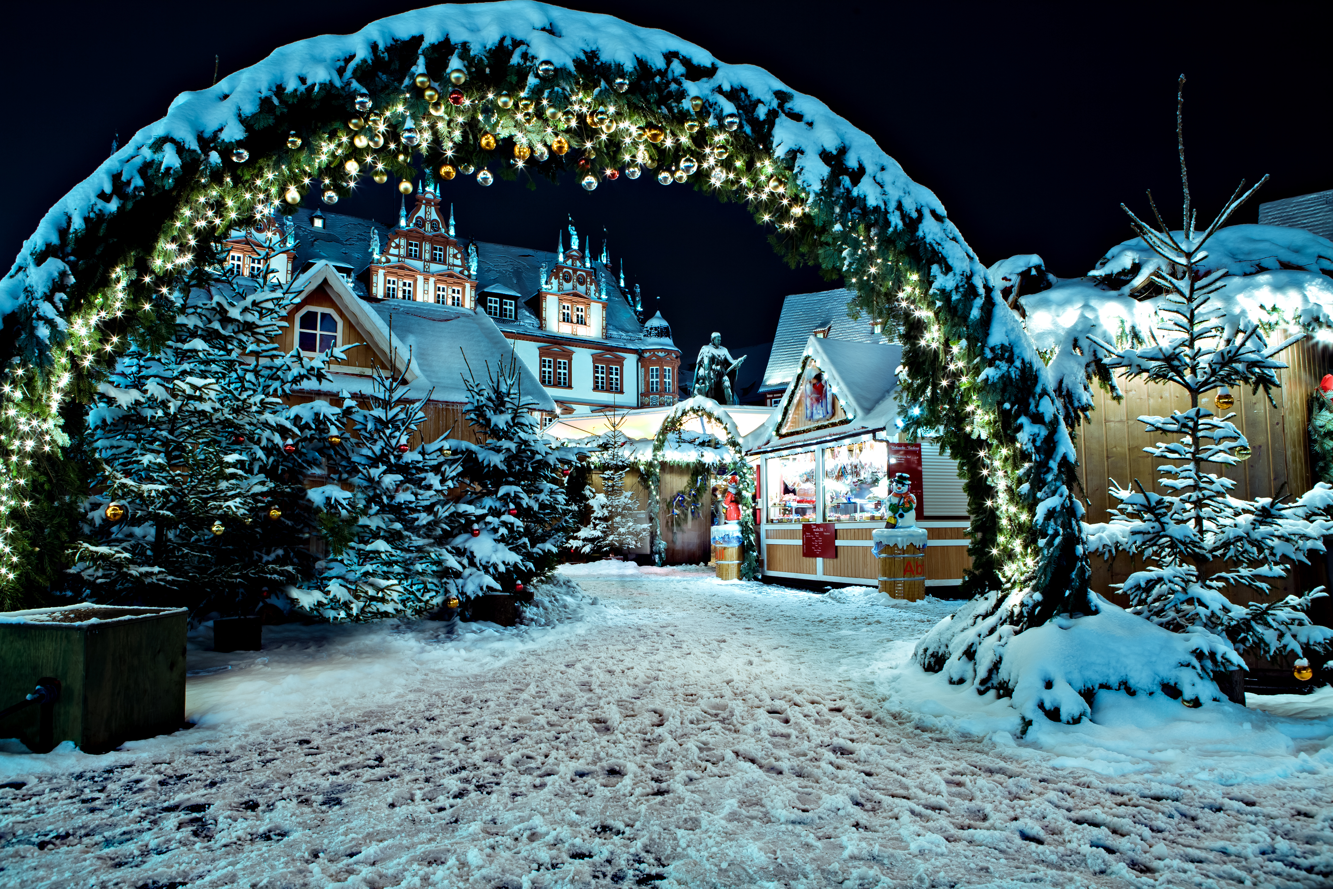 romantisch weg met kerst